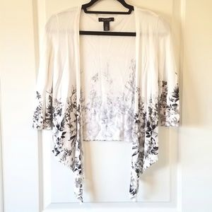 Like New White House Black Market White Cardigan S